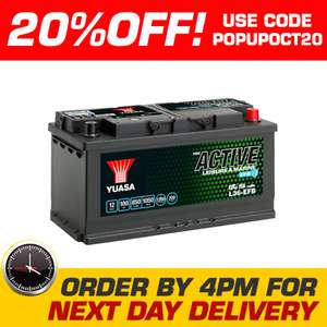 Yuasa L36-EFB 100Ah 12V Leisure Battery £103.18 @ ebay / tayna-batteries