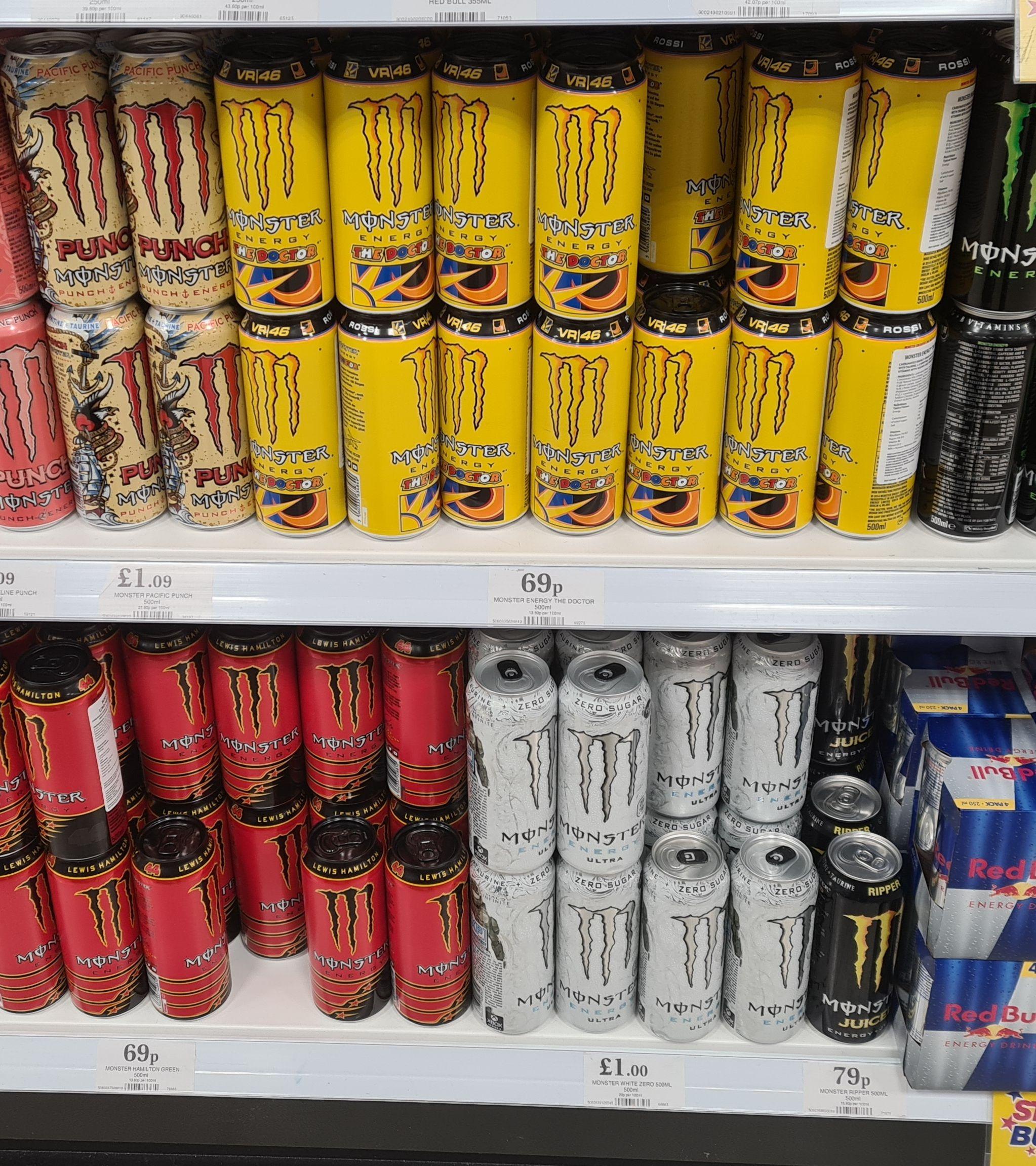 Monster energy The doctor & Lewis Hamilton 500ml for 69p Instore @ Home Bargains (Uttoxeter)