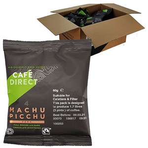45 X Cafe Direct Machu Picchu Cafetière Filter Coffee 60g Sealed Pack (2.7kg of coffee) £10 @ Yankee Bundles