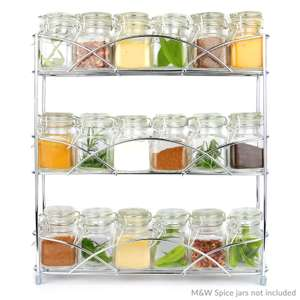 Free Standing 3 Tier Herb & Spice Rack Chrome £6.99 Delivered + 2 Year Warranty @ Roov via Ebay