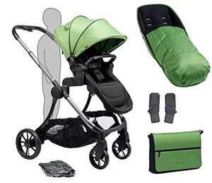 iCandy Lime Plus Moonrock Lime Pushchair, Carrycot And Matching Bag, Duo Pod Set, Lime - £476 @ Amazon