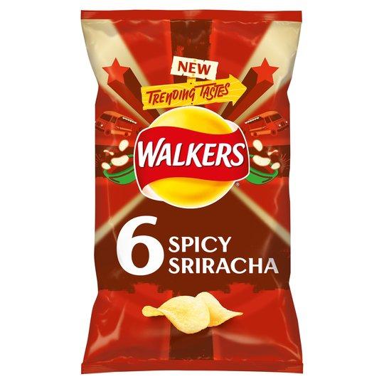 Walkers 6 pack Sriracha crisps -50p @ B&M (Grimsby)