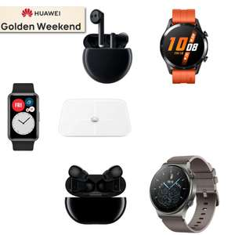 Huawei Golden Weekend Deals - EG: Huawei Watch Fit £89.99 + Smart Scale £99.98 Total / Huawei FreeBuds 3 £89.99 + Watch GT2 £189.98