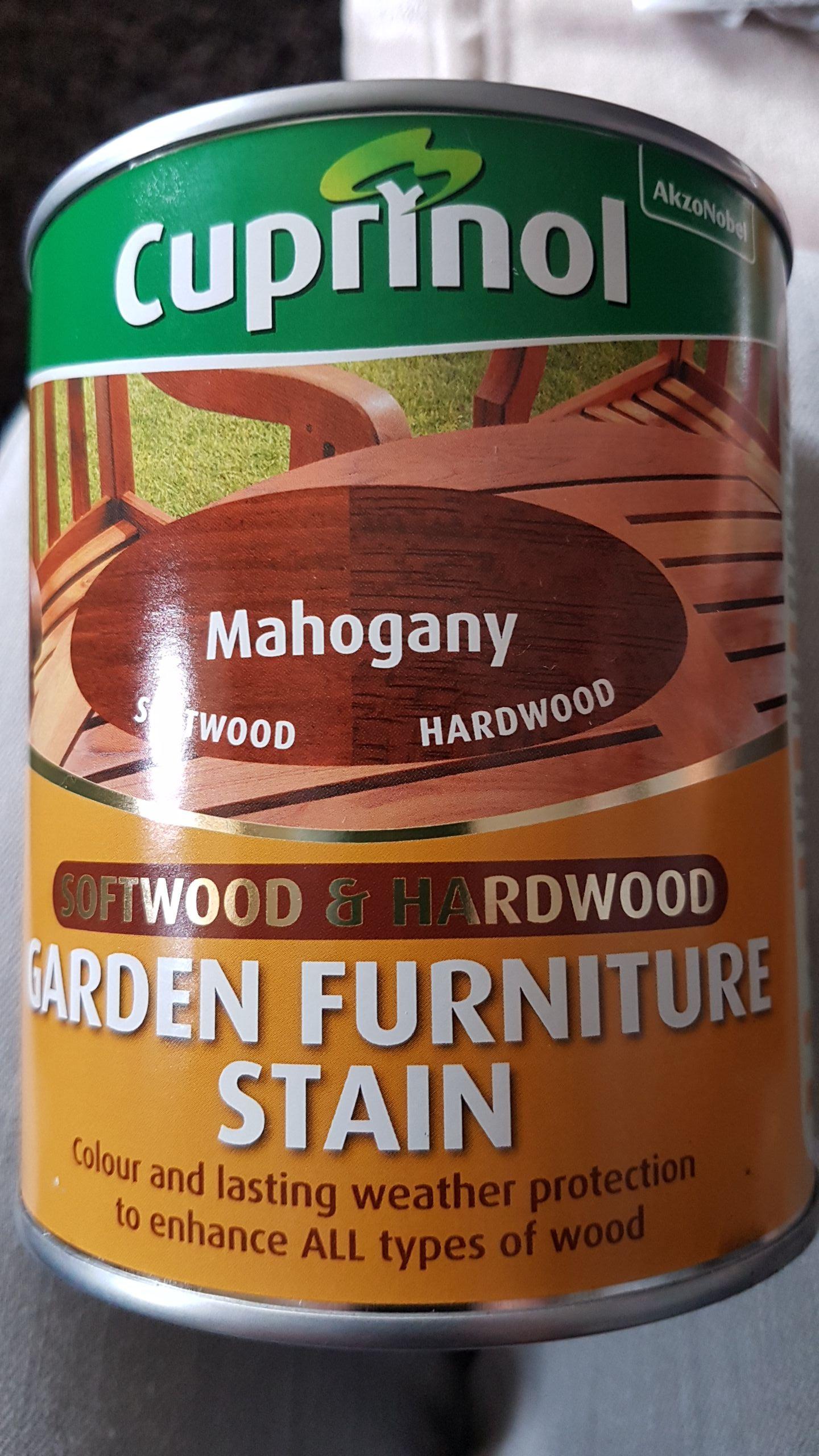 Cuprinol garden furniture stain mahogany 750ml @ Wilko (Brentwood)