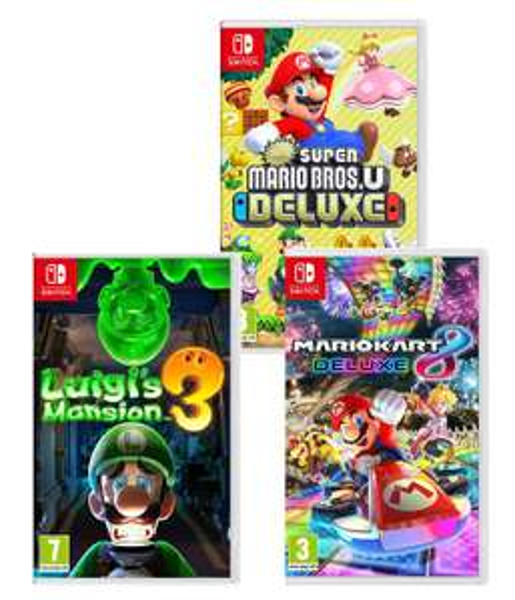 Luigi's Mansion 3 / Mario Kart 8 Deluxe / New Super Mario Bros. Nintendo Switch £31.99 With Code @ Currys