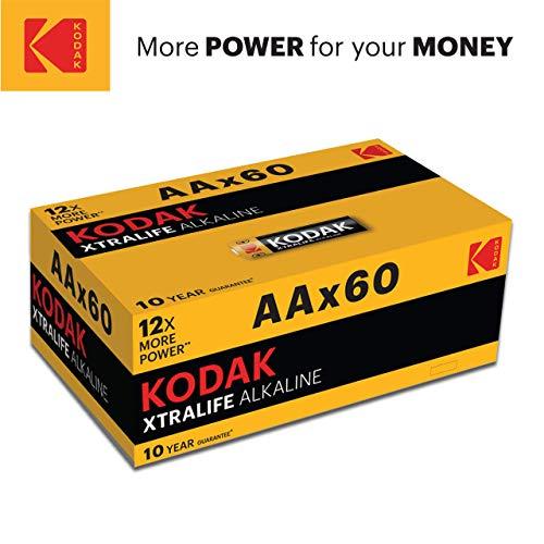Kodak Alkaline AA Batteries x 60 pack £12.99 Prime / + £4.49 non Prime @ Amazon