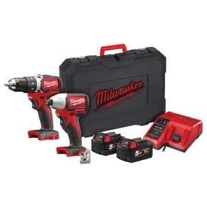 Milwaukee M18 BLPP2A2 18v Brushless Twin Pack 5.0Ah Kit (MTSMILM18BLPP2A) - £299.99 delivered @ My Tool Shed