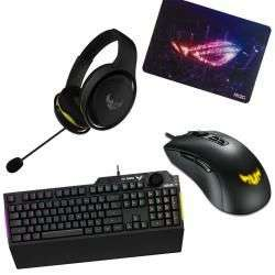 ASUS Keyboard, Mouse, Headset & Mouse Mat Bundle - £77.99 / £79.98 delivered @ Aria PC