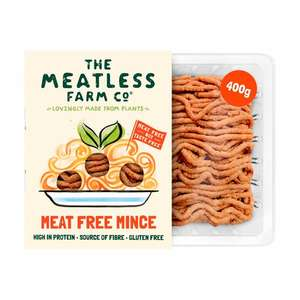 400g Meatless Farm Co frozen vegetarian mince 45p at Sainsbury's (Newcastle-under-Lyme)