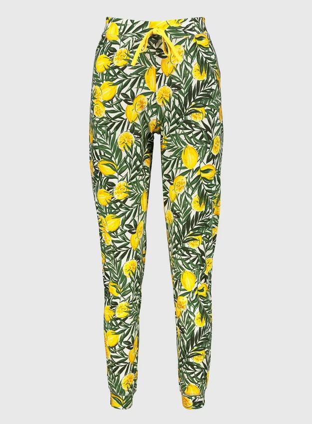 Lemon Leaf Print Cuffed Pyjama Bottoms £5 @ Sainsbury's Tu Clothing