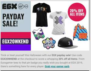 EGX payday sale - 20% off everything