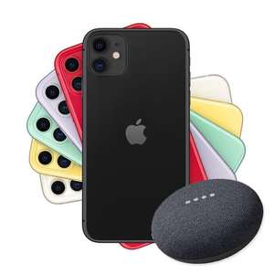 iPhone 11 128GB on Three - Unlimited Mins & Texts, 100GB data for £36pm - Free Google Nest Mini using code - 24mo @ Fonehouse