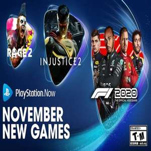 PS Now (November 2020) - F1 2020, Injustice 2, Rage 2, My Time at Portia, Kingdom Come: Deliverance, Warhammer: Vermintide 2