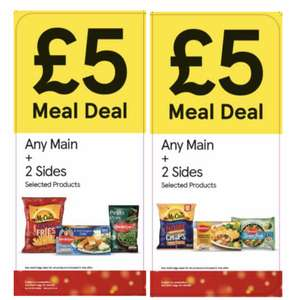 New Tesco frozen meal deal for £5 (Any Main + 2 Sides)