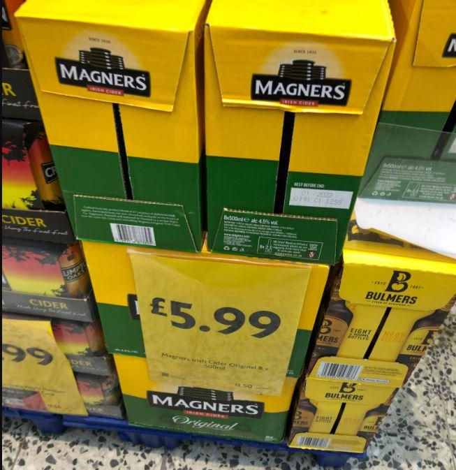 Magners 8x500ml £5.99 @ Morrisons Hampshire