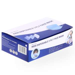 20 Pack Kids Disposable 3Ply Face Mask £3.99 @ Home Bargains