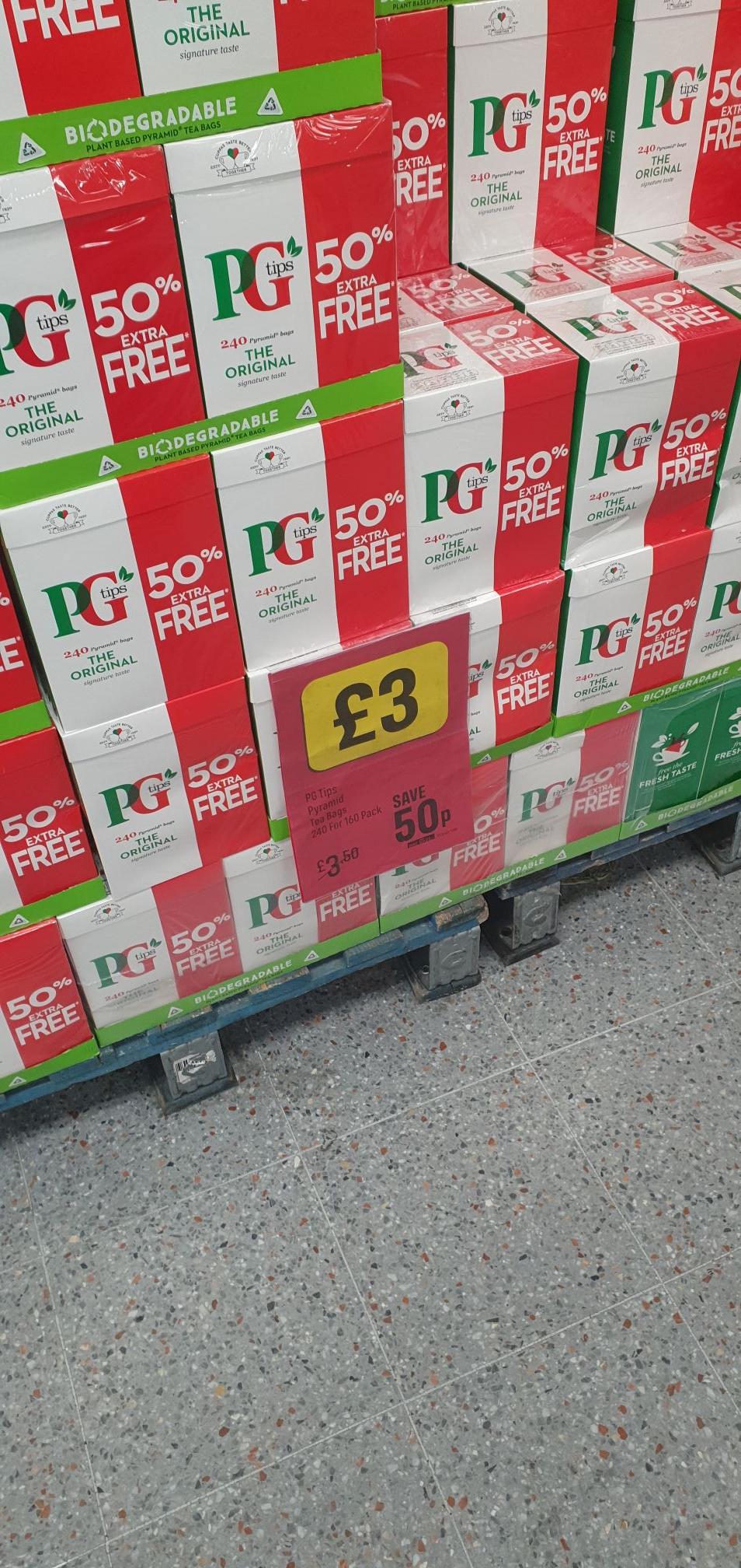 PG Tips (240 Bags) - £3 Instore/Online @ Iceland