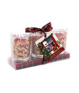 Spiced Apple & Cinnamon Triple Scented Candle Gift Set £4.99 + £3.95 delivery @ Cancer Research Shop