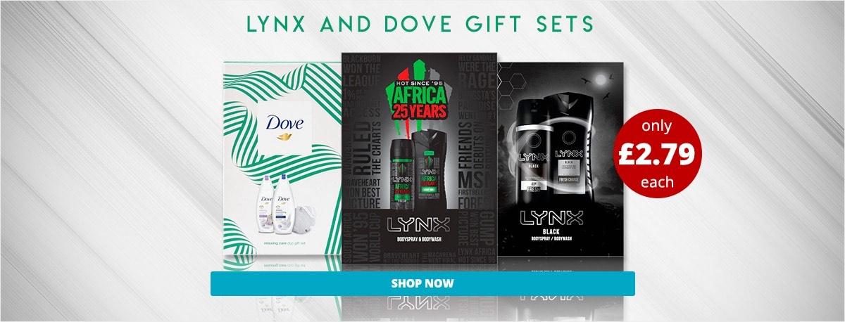 Lynx and dove Christmas gift sets £2.79 instore @ Savers stourbridge