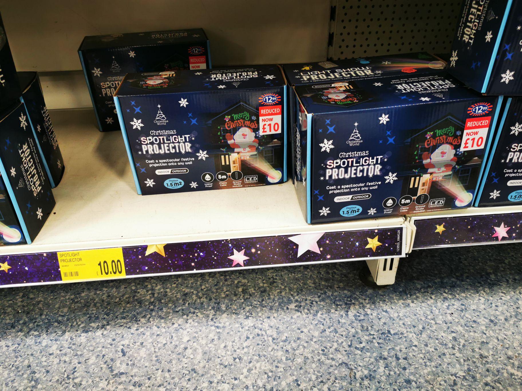 B&M Christmas spotlight projectors £10 instore @ B&M Lowestoft