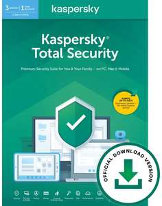 Kaspersky Total Security 2020 deals are back - 3 devices £12.99 @ Amazon Deal of the day