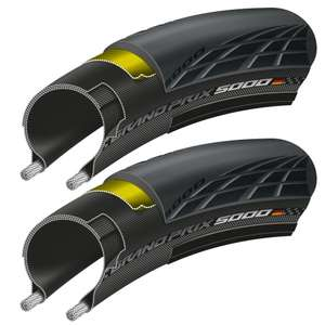 Continental GP5000 pair + Free inner tubes £75.95 @ Merlin Cycles