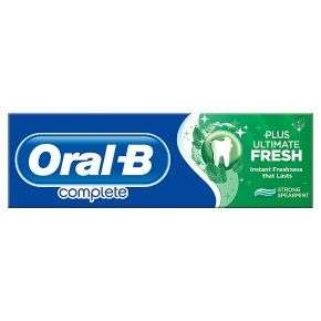 Oral-B Complete Plus Ultimate Fresh toothpaste - £1.09 @ Waitrose & Partners
