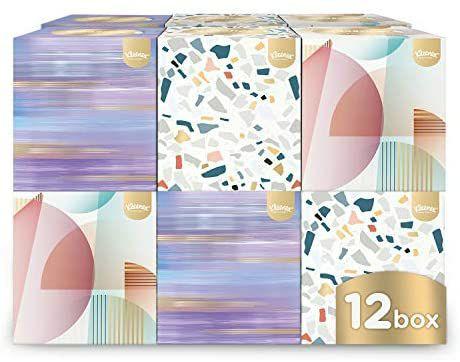 Kleenex Collection Cube - 12 Boxes (56 Tissues Per Box, 672 Tissues Total) - £12 (£4.49 p&p non Prime) 25% voucher & 10% s&s £7.80 @ Amazon