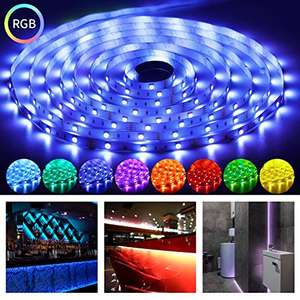 OUSFOT LED Strips Lights 16.4Ft RGB Light Strip SMD 5050 with Remote Controller £8.99 Prime (+ £4.49 Non Prime) @ ousfot / FBA