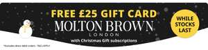 Free £25 Molton Brown card for credit-card subscription orders at Magazine.co.uk