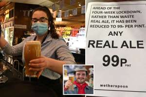 Real Ale Sale - 99p pints at Wetherspoons