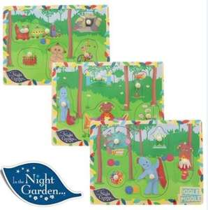 In the night garden wooden puzzles £2.99 @ home bargains Newport