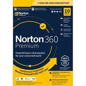 Norton 360 Premium 2020 [10-Device, 2-YR] for £24.99 at PC Pro Magazine