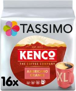 Tassimo Kenco Americano Grande Coffee Pods (Pack of 5, Total 80 pods, 80 servings) £16.96 (+£4.49 NP / £10.40 with 1st S&S) @ Amazon