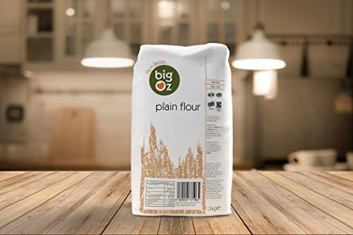 BIG OZ Plain Flour, 1.5 kg - Pack of 4 £3.95 (+£4.49 Non Prime) @ Amazon
