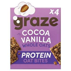 Graze Cocoa & Vanilla / Lemon & Blueberry / Honey And Oat - 4 X 30G - £1.25 @ Tesco (Clubcard price)