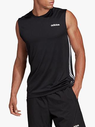 Adidas Design 2 Move 3-Stripes Training Tank Top, Black - £13.56 (+£2 C&C) @ John Lewis & Partners