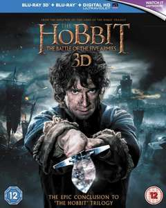The Hobbit - The Battle of the Five Armies- 3D Blu ray + Blu ray + Digital - New £4.88 (+£2.99 Non Prime) @ Amazon