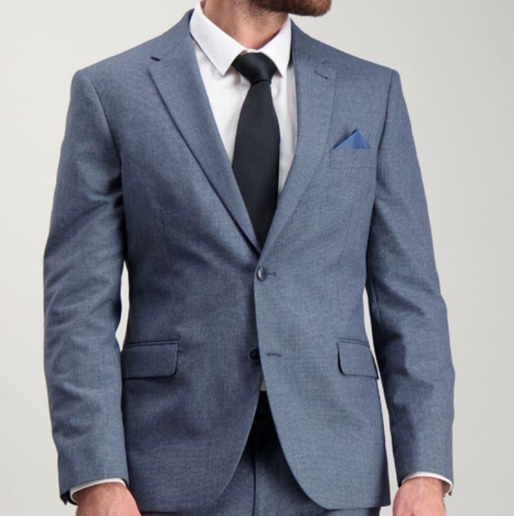 Blue Tailored Fit Melange Jacket £20 at Sainsbury's Tu Clothing