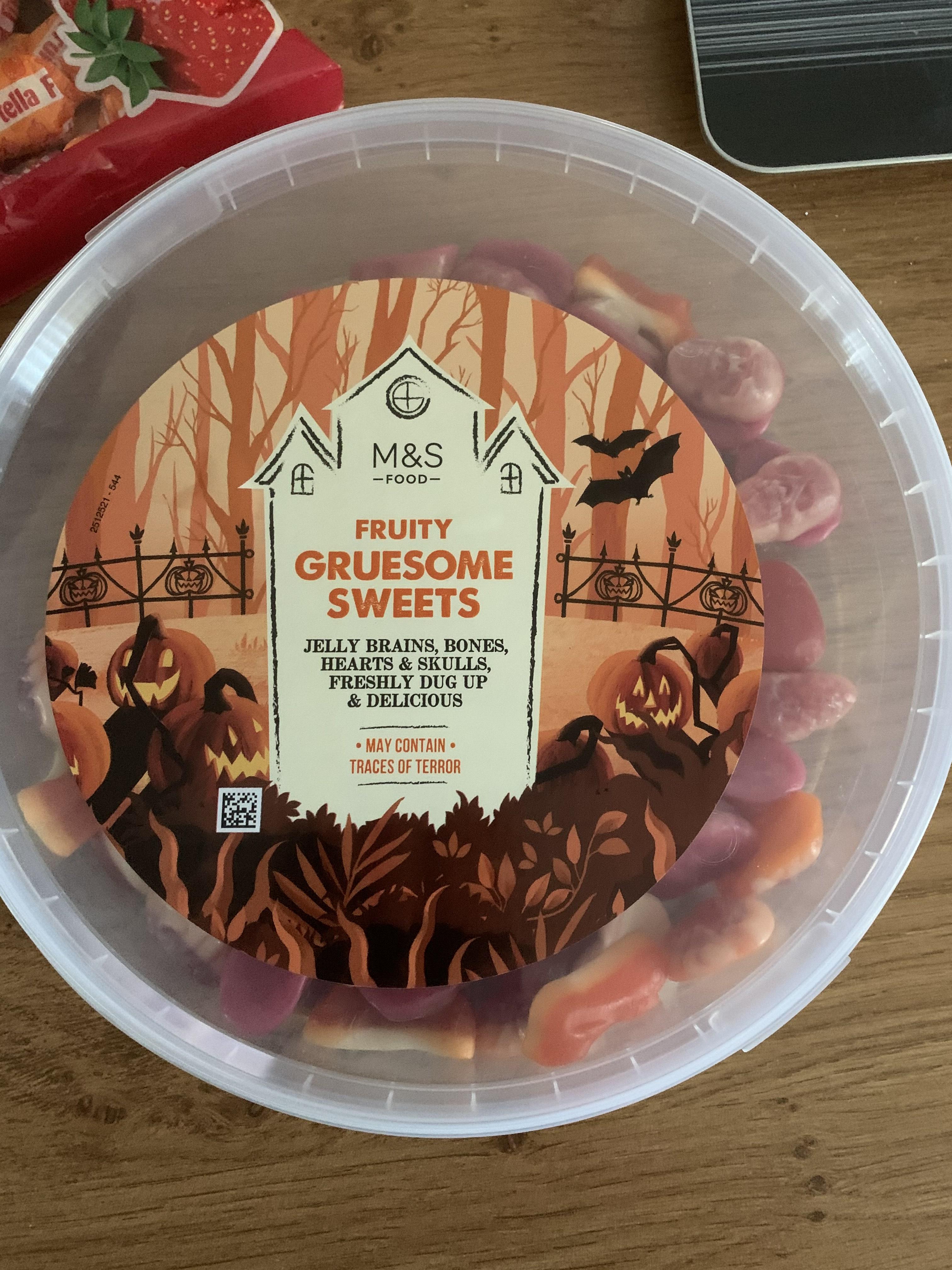 Halloween fruity gruesome sweets tub 800g £2 instore @ Marks & Spencer, Sheffield, Fargate