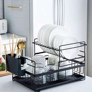 SUNFICON Kitchen Sink Dish Drainer Rack Drying Rack £29.89 with code Sold by SUNFICON DIRECT and Fulfilled by Amazon