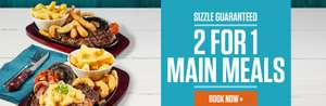 Two For One Main Meals 2nd-4th November @ Sizzling Pubs