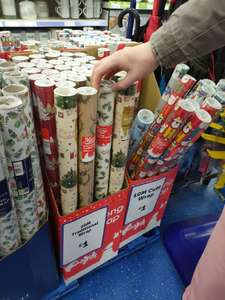Wrapping paper 10 Meters £1 @ The Range Peverell