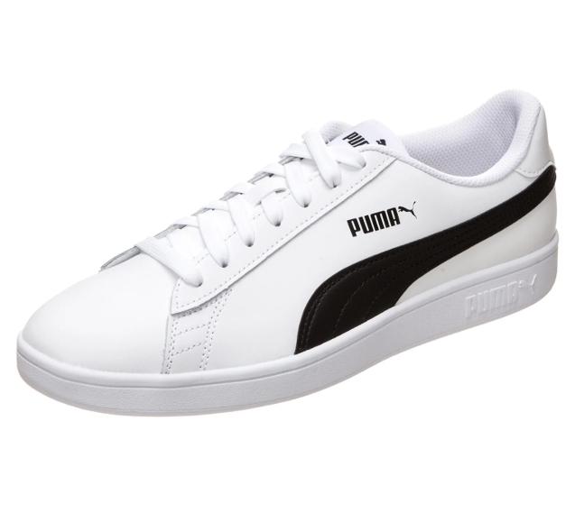Men's Puma Smash Trainers in White/Black £22 Delivered @ Zalando