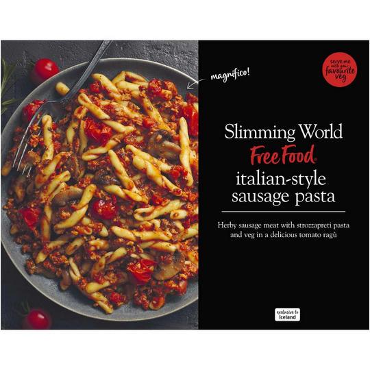 Slimming World Italian-Style Sausage Pasta 550g 50p at Iceland