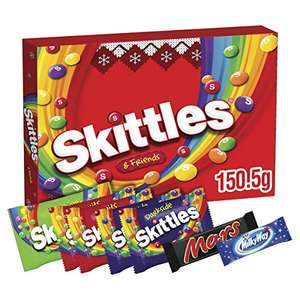 Skittles Christmas Chocolate Gift Box, Stocking Fillers, Selection Box, 150.5g £1 prime / £5.49 nonPrime at Amazon