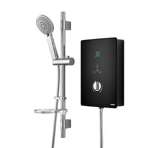 Wickes Hydro LED Lit Touch Control Electric Shower Kit - Black/Chrome 8.5kW £50 free click and collect at Wickes