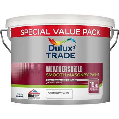 7.5L Dulux Trade Weathershield Smooth Masonry Paint (White/Magnolia) - £26.39 @ Dulux Shop