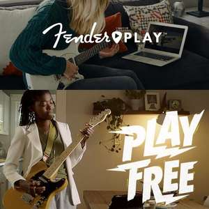 Free 3 Month Fender Play Guitar Lessons Subscription + 10% off Gear