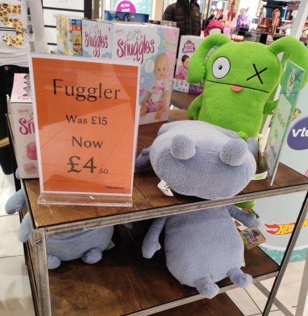 Fuggler Toys £4.50 in-store @ Debenhams London